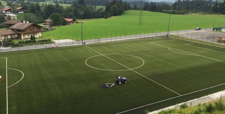 Successful soccer field installation in Innsbruck